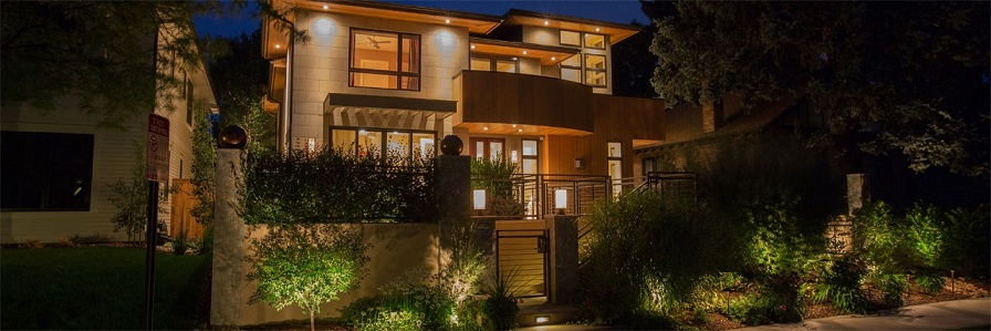 Outdoor home automation lighting